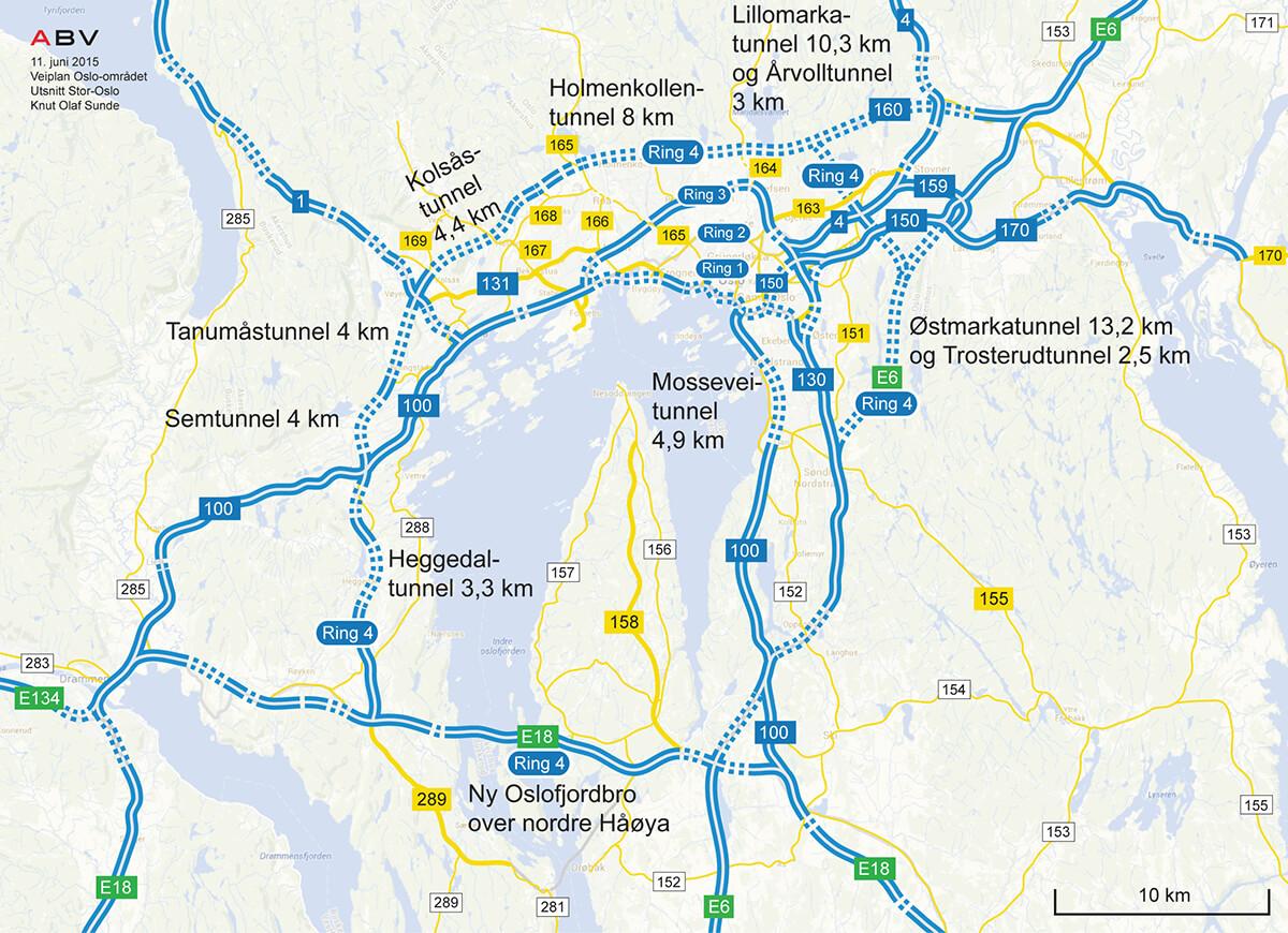 oslo bomring kart Oslofjordforbindelsen: Bru – ikke tunnel! | VEGFORUM ØST VEST oslo bomring kart